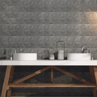 DL3937 250x750mm Graphite_Linen look Feature tile_vanity backdrop_Tile Living Drummoyne