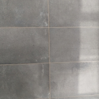 Cotto F Nero 3060 with caramel grout