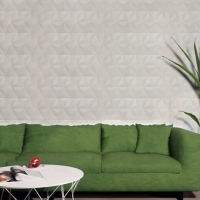 DL3938 250x750mm Ivory_Linen look Feature tile_Green lounge backdrop_Tile Living Drummoyne